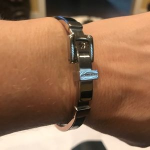 Michael Kors black and silver bracelet